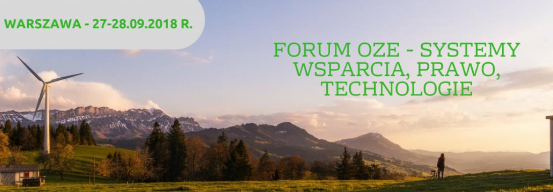 Forum OZE 27-28.09.2018 k. Warszawy